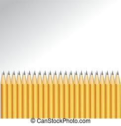 fondo, con, matite