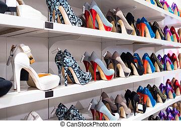 fondo, con, scarpe