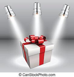 fondo, con, scatola regalo