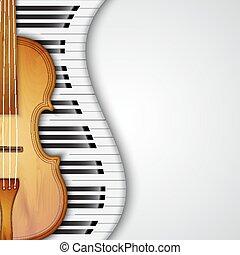 fondo, con, violino
