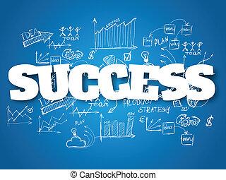 fondo., concetto, affari, successo