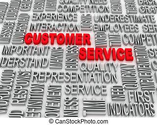 fondo, concetto, wordcloud, illustrazione, di, assistenza clienti