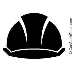 fondo., construcción, sombrero duro, blanco
