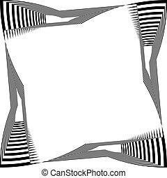 fondo, cornice, distorto, astratto, trasparente, nero, arabesco, tastiera, pianoforte, illusione