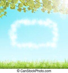 fondo., cornice, nube cielo