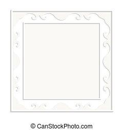fondo., cornice, vettore, bianco, illustrazione