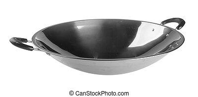 fondo., cottura, wok, asia, wok