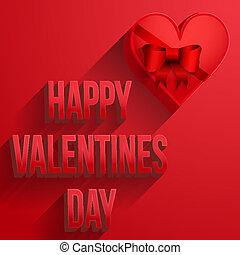 fondo, cuore, felice, giorno valentines, scheda
