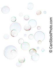 fondo, da, bolle