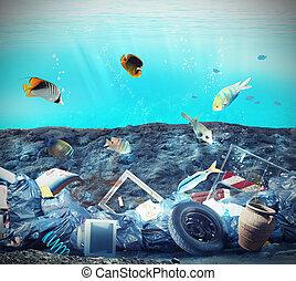 fondo del mar, contaminación