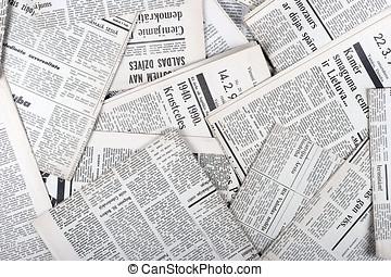 fondo, di, vecchio, vendemmia, giornali