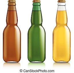 fondo., differente, bottiglie, bianco