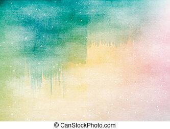 fondo., digital, colorido, color agua, painting., arte ...