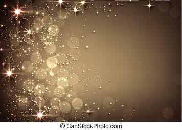 fondo dorado, stars.