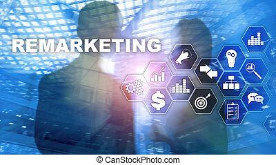 fondo., financiero, internet, red, remarketing, technology.,...