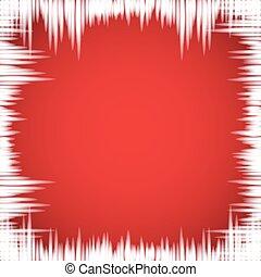 fondo., finestra, rosso, ghiaccioli