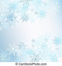 fondo, fiocchi neve