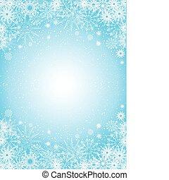 fondo, fiocco di neve