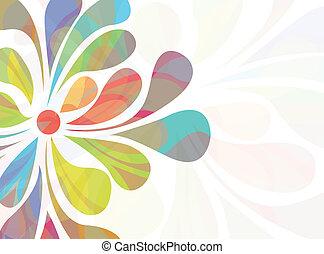 fondo, floreale, colorito
