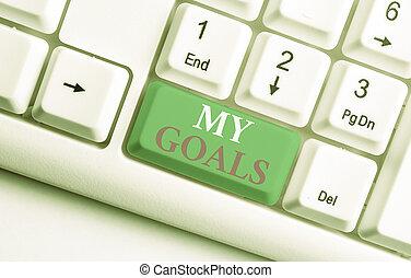 fondo, foto, desiderato, concettuale, dimostrare, goals.,...