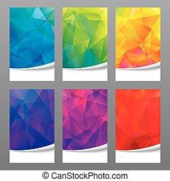 fondo., geometrico, colori