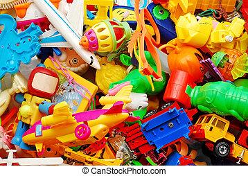 fondo, giocattoli