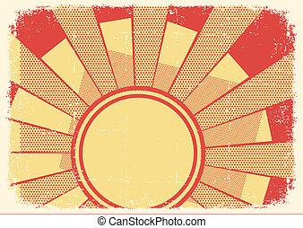 fondo, grunge, luce sole, struttura, cartoni animati