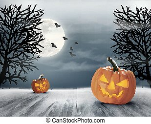 fondo., halloween, fantasmal