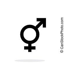 fondo., icono, transgender, blanco