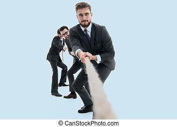 fondo, immagine, di, uno, uomo affari, salita, su.