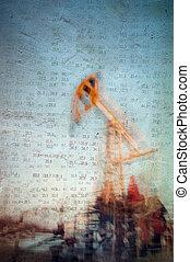 fondo., industria, olio, gas