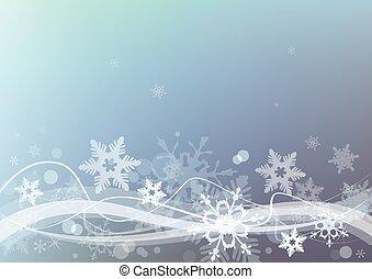 fondo., inverno, neve