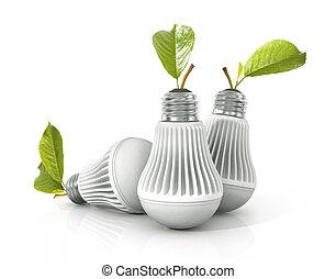 fondo., lámpara, blanco, fue adelante, aislado