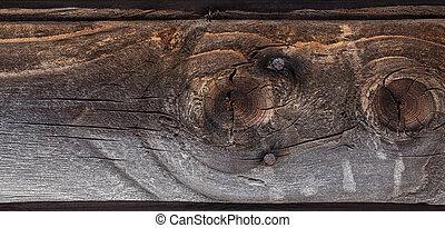 fondo., legno, vecchio, assi