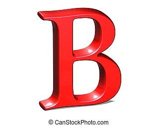 fondo, lettera, rosso, baluginante, 3d, bianco