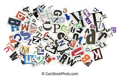 fondo, lettere