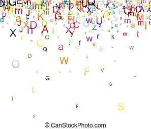 fondo, letters.