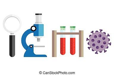 fondo, medico, ricerca