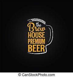 fondo, menu, vetro, birra, disegno, bottiglia, casa