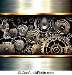fondo, metallico, astratto