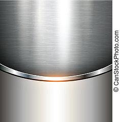 fondo, metallico
