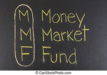 fondo, mmf, soldi, acronimo, mercato