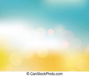 fondo, morbido, astratto, estate, luce, colorato, disegno