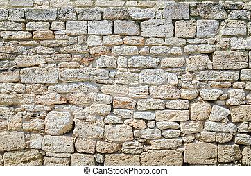 fondo, muro pietra