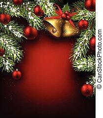 fondo., navidad, rojo