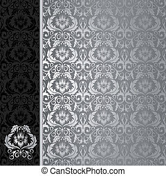 fondo negro, plata