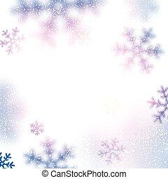fondo., nieve, navidad