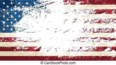 fondo., norteamericano, grunge, bandera