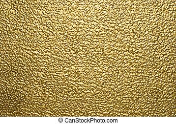 fondo, oro, metallico
