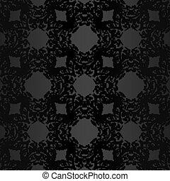 fondo oscuro, con, floral, vendimia, patrón